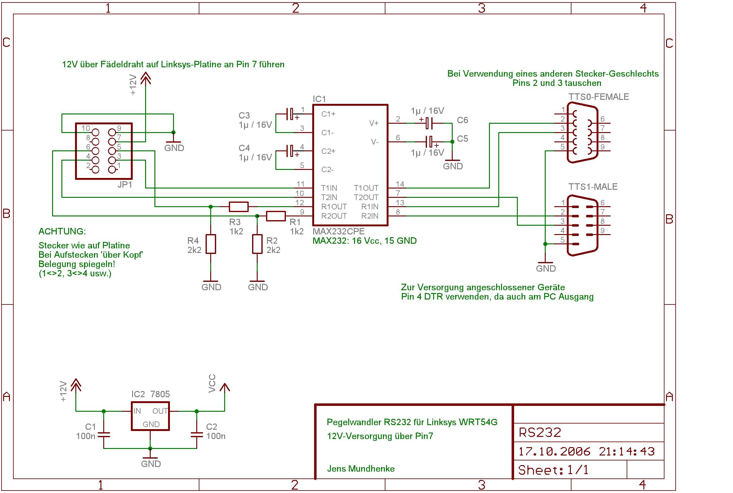 Der Denkkanal Schaltung Max232 Pin Diagram Was Plan Im Moment Nicht Zeigt Erhlt Seine 5volt Ber 16 Gnd 15